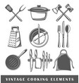 set of elements of the cooking vector image