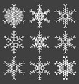 set of snowflakes icons on a gray vector image vector image