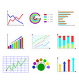 set of template color chart and graphic vector image
