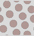 simple seamless striped circles pattern vector image vector image