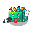 singing kids toys in the cartoon box vector image