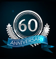 sixty years anniversary celebration design vector image vector image