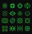 sniper aim optical weapon ui template futuristic vector image vector image