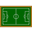 soccer field scheme vector image vector image