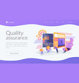 software testing landing page concept vector image vector image