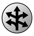 Straight left and right arrow button vector image vector image