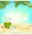 summer background banner and frame with young vector image vector image