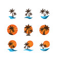 summer logo icon template vector image
