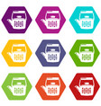 teatime icons set 9 vector image vector image