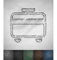 travel card icon Hand drawn vector image
