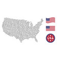 usa map mosaic of barbed wire vector image
