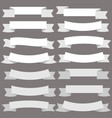 vintage white banner ribbon on gray background vector image vector image