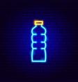 water bottle neon sign vector image
