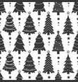 winter pattern with black christmas trees vector image