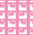 flat style cool cats seamless pattern vector image