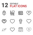 12 passion icons vector image vector image
