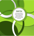 Abstract green background with circles and rings vector image vector image