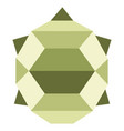 abstract low poly turtle icon vector image vector image