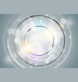 abstract ring background metal chrome shine round vector image vector image