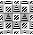 Abstract seamless pattern black and white vector image