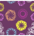 Abstract swirl retro seamless pattern vector image vector image