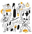 activities people who are playing various vector image
