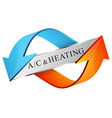 air conditioning and heating symbol vector image vector image