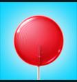big pink lollipop vector image vector image