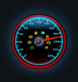Bright neon digital speedometer with light