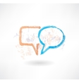 Brush empty speech bubbles icon vector image