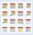 calendar icon filled outline design editable vector image
