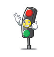 call me traffic light character cartoon vector image