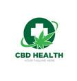 cbd health cross medicine logo designs vector image vector image