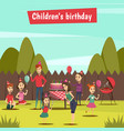 childrens bithday party vector image vector image