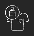 clothes made from plastic bottles chalk white vector image