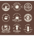 Coffee Emblem Set In Color vector image vector image