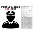 colonel icon with bonus vector image