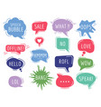communication tags cartoon speech bubbles with vector image vector image