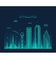 Dallas skyline trendy linear vector image vector image