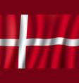 denmark national flag with white cross vector image
