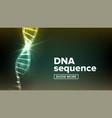 dna structure science background vector image vector image