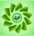 Emblem of a green sprout as a symbol of living vector image