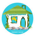 environmentally friendly house in cartoon style vector image vector image