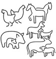 farm animals set livestock eps 10 vector image vector image