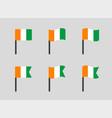 flag republic cote d ivoire icons set vector image