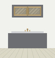 Flat Design Bathtub In Bathroom vector image