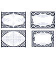 frames with abstract pattern vector image vector image