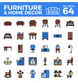 furniture and home decor outline colir icon vector image vector image