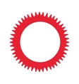 gear machine settings isolated icon vector image vector image