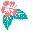 hibiscus flowers vintage vector image vector image